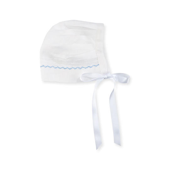 Linen Embroidered Bonnet