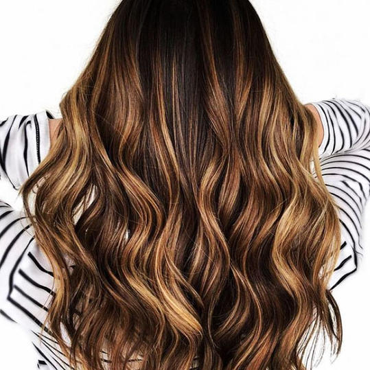 Chestnut Brown with Caramel Balayage