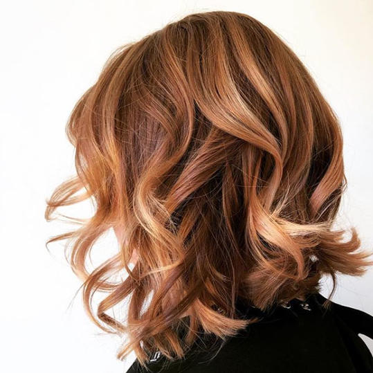 Copper Red with Rose Gold Balayage