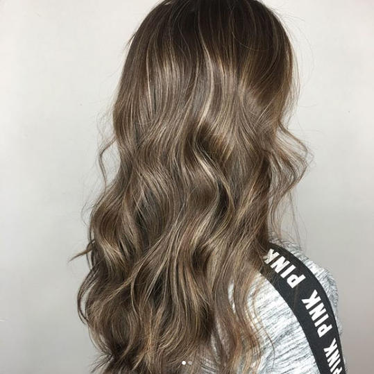 Light Ash Brown with Beige Balayage