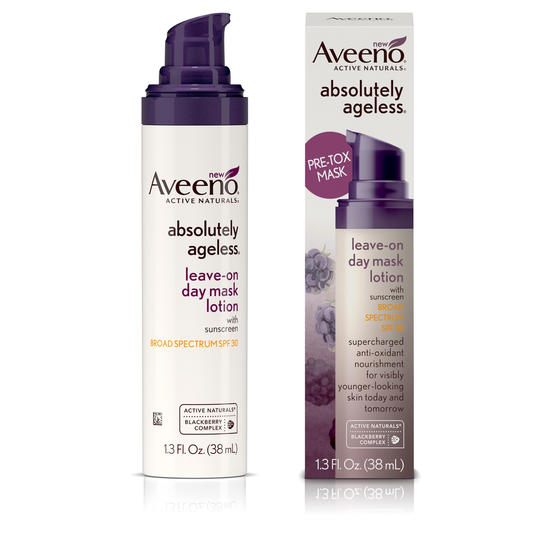 Aveeno Absolutely Ageless Pre-Tox Leave-On Day Mask Lotion Broad Spectrum SPF 30