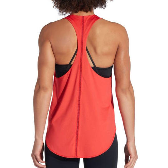 Reversible Ladder Trim Tank Top in Red Coral