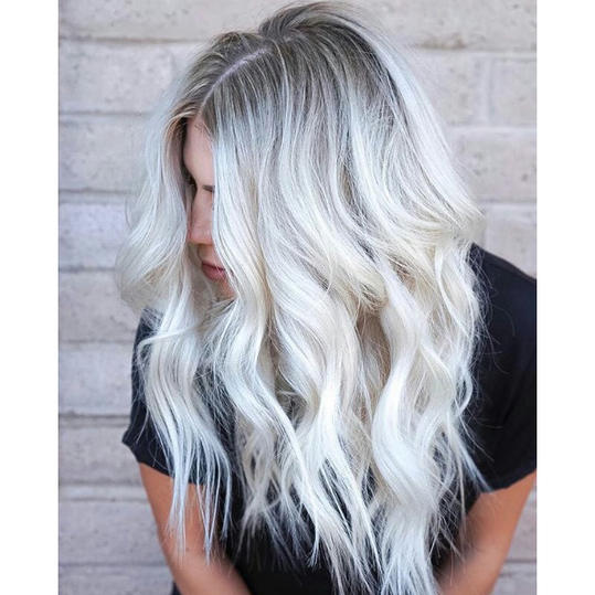 Frozen Blonde With Shadow Roots