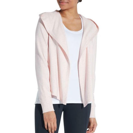 Effortless Cozy Cardigan in Pink Darling Heather