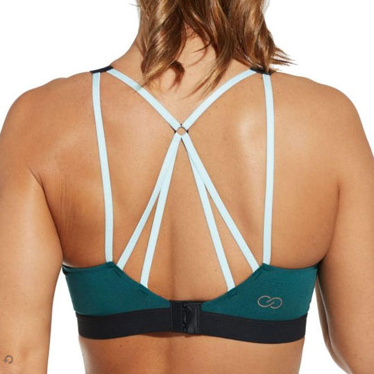Focus Strappy Sports Bra in Deep Teal