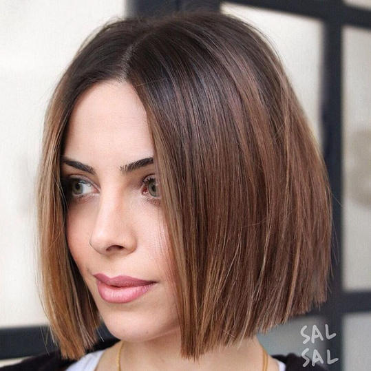 Straight Chin-Length Bob