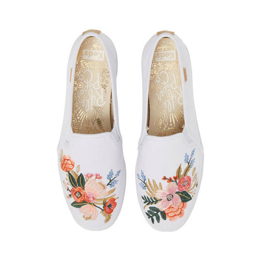 Comfy Sneakers for Pairing With Summer Dresses: Keds x Rifle Paper Co. Birch Triple Decker Slip-On Sneaker