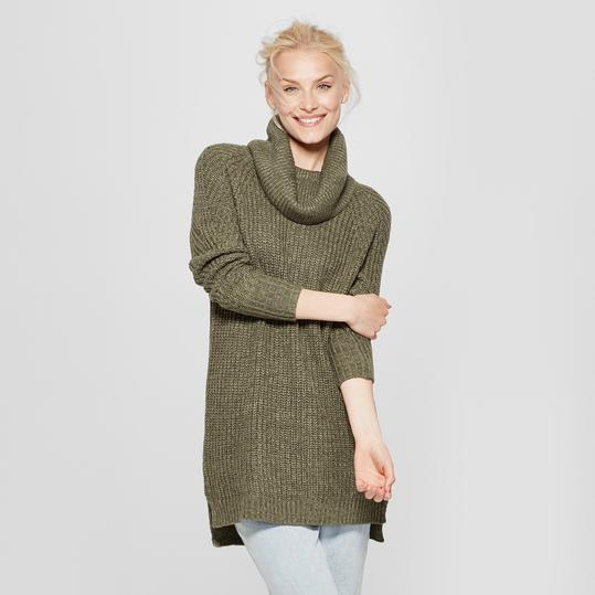 Cozy Cowl Neck Pullover Sweater