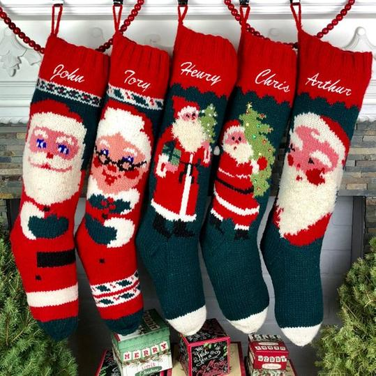 Hand Knit Wool Personalized Stocking
