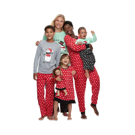 f1cc70dd8f19 RX 1809 Matching Family Christmas Pajamas Snowmen and Snowflakes
