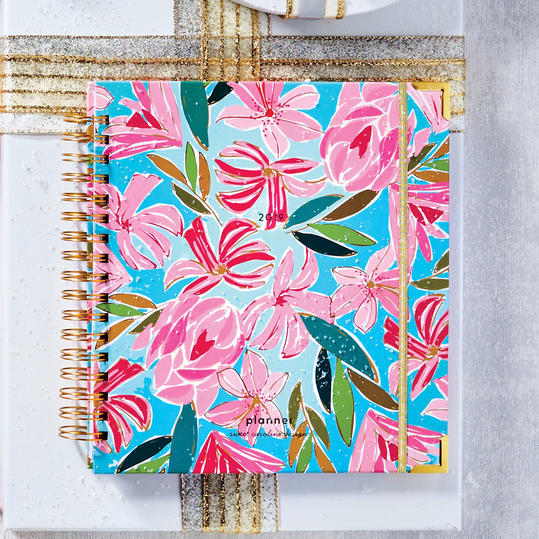 Abstract Floral Large 2019 Planner