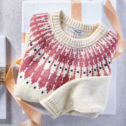 Fair Isle Breakwater Crew Sweater