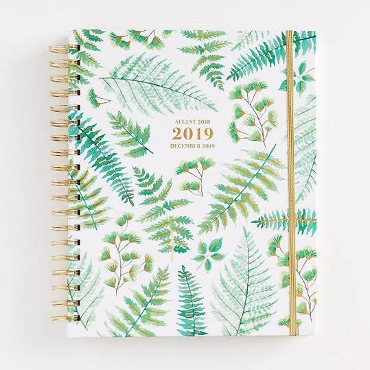 Ferns Planner with Pops of Gold Foil