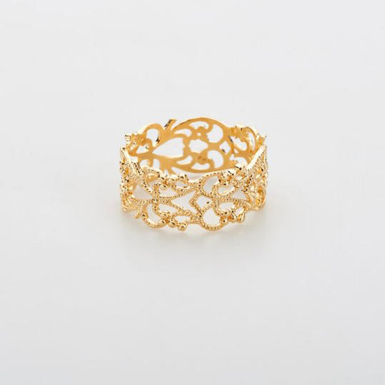 Jules Smith Pavé Lace Cuff Ring