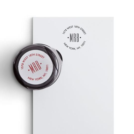 Mark and Graham Self-Inking Round Stamp