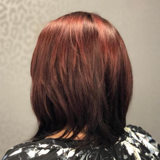 Light to Dark Red Ombre