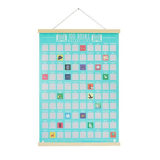 100 Books Scratch-Off Poster