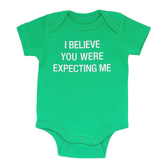 I Believe You Were Expecting Me Babysuit