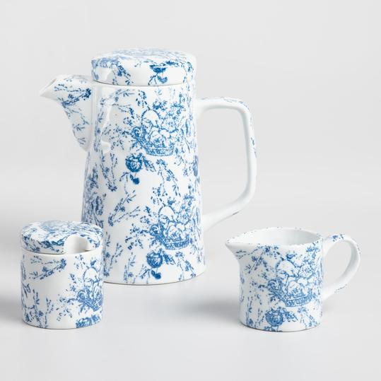Blue Harper 3 Piece Tea Set