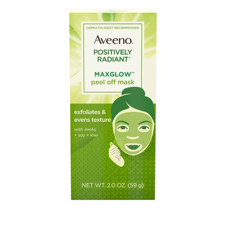 Aveeno Positively Radiant MaxGlow Peel Off Exfoliating Face Mask