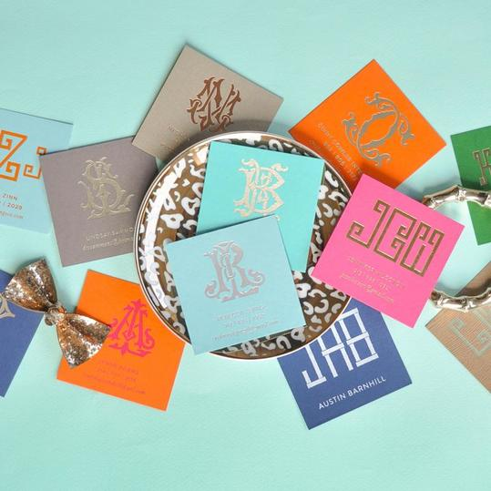 Monogrammed Calling Cards