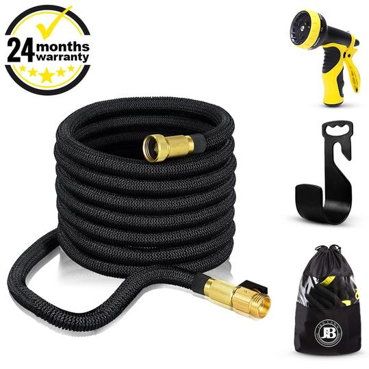 XpandaHose 75ft Expandable Water Garden Hose with Holder