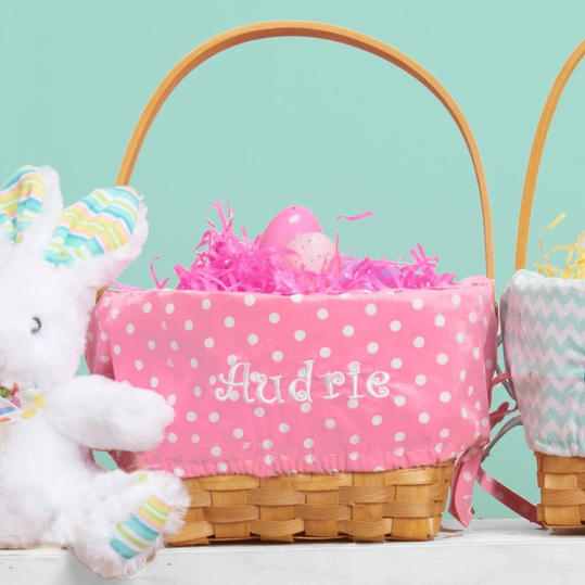 Personalized Woodchip Easter Basket