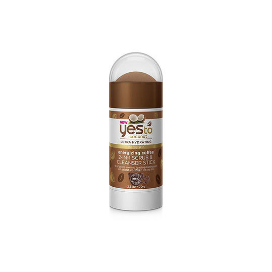 RX_1902_Best Drugstore Beauty Buys_Yes To Coconut Ultra Hyrdrating Energizing Coffee 2-in-1 Scrub & Cleanser Stick