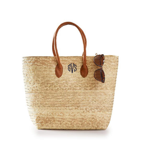 RX_1903 Personalized Gift for Mother's Day_Monogrammed Palm Leaf Tote