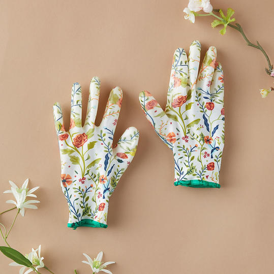 Floral Garden Weeder Gloves