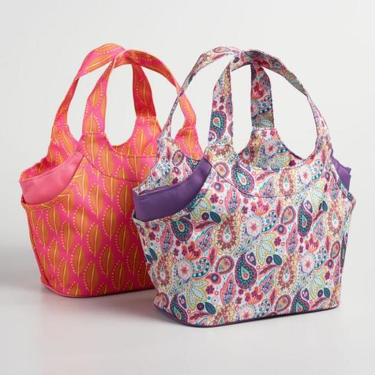 Paisley and Bean Print Jane Insulated Lunch Bags