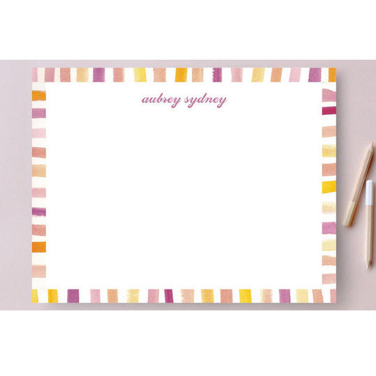 Our Favorite Personalized Stationery: Chic Stripes Personalized Stationery