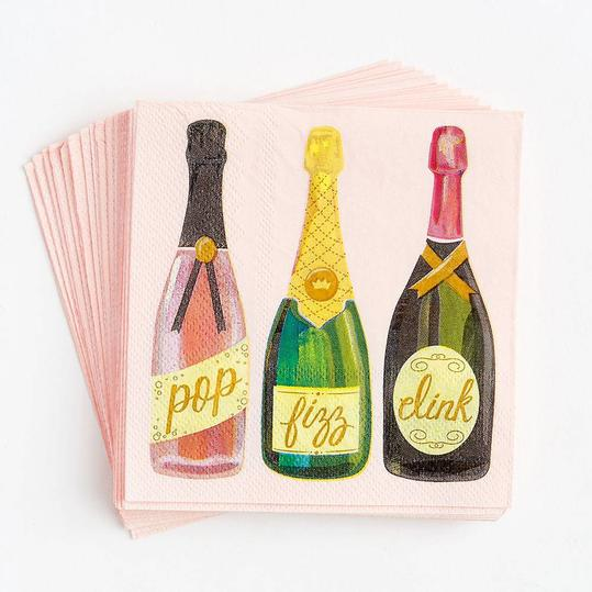 Sparkling Champagne Cocktail Napkin Set