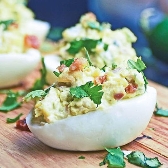 Jalapeño Popper Deviled Eggs recipe