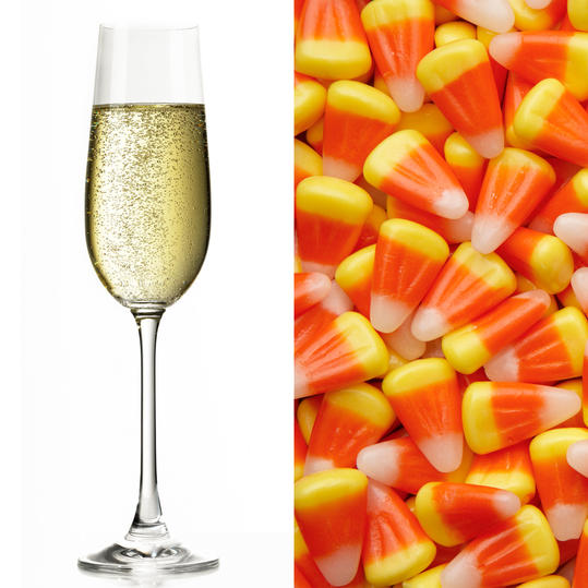 How to compete with candy corn's waxy, saccharine spirit? Bubbles. And lots of them. The effervescence in a clean, elegant sparkling wine not only mellows candy corn's over-the-top sweetness—it helps coax out the inherent creaminess in Halloween's...