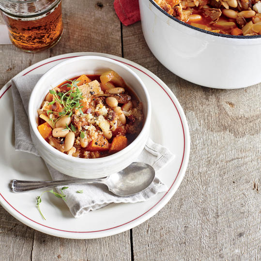 Fast Chicken Chili with Butternut Squash