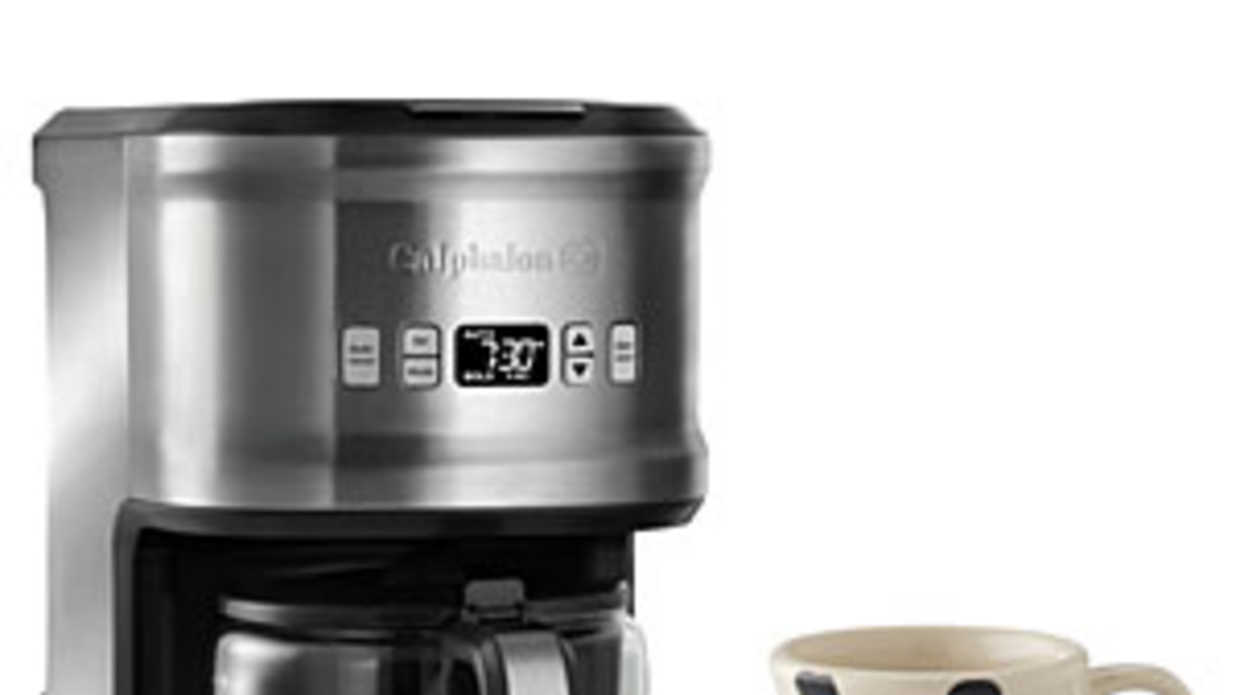 Calphalon Coffee Maker & Schoolhouse Mug