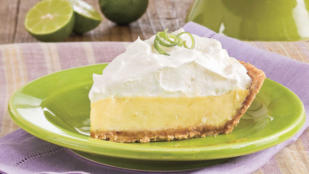 True Key lime pies are never green and are always made with sweetened ...