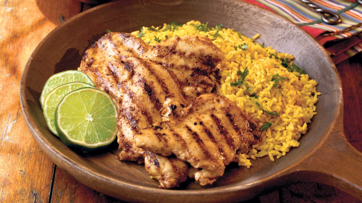 Grilled Southwestern Chicken with Pineapple Salsa