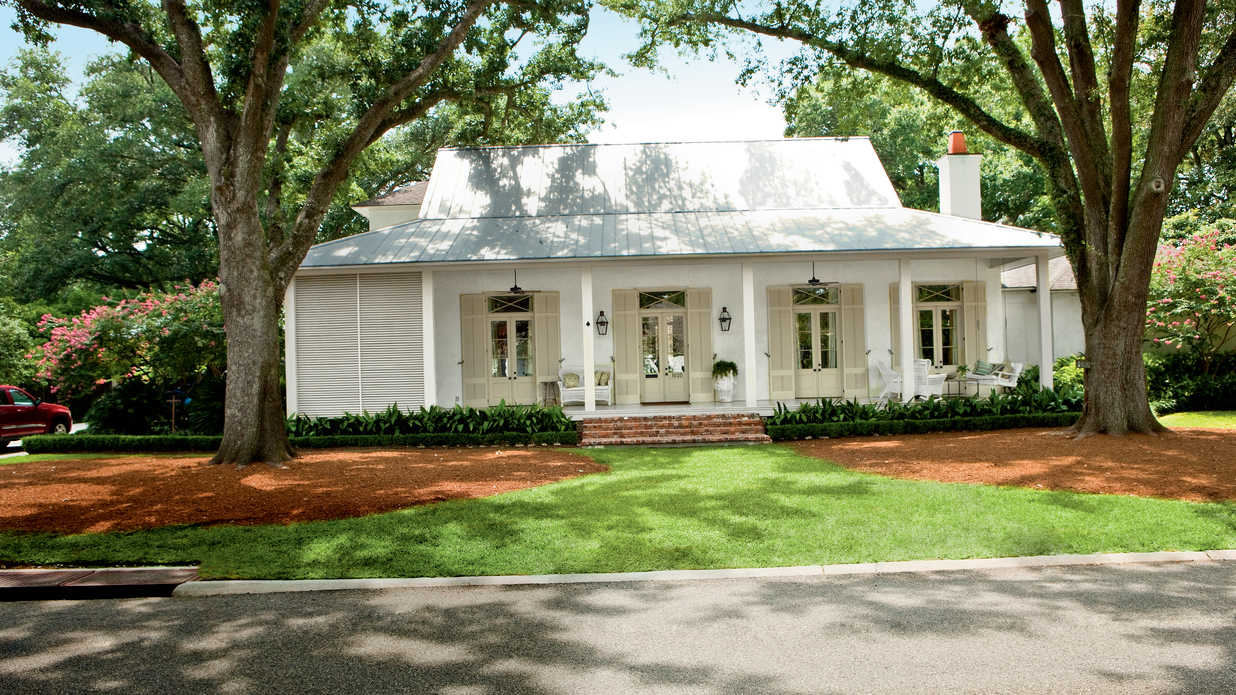 Breezy river house exterior southern living for French creole house plans