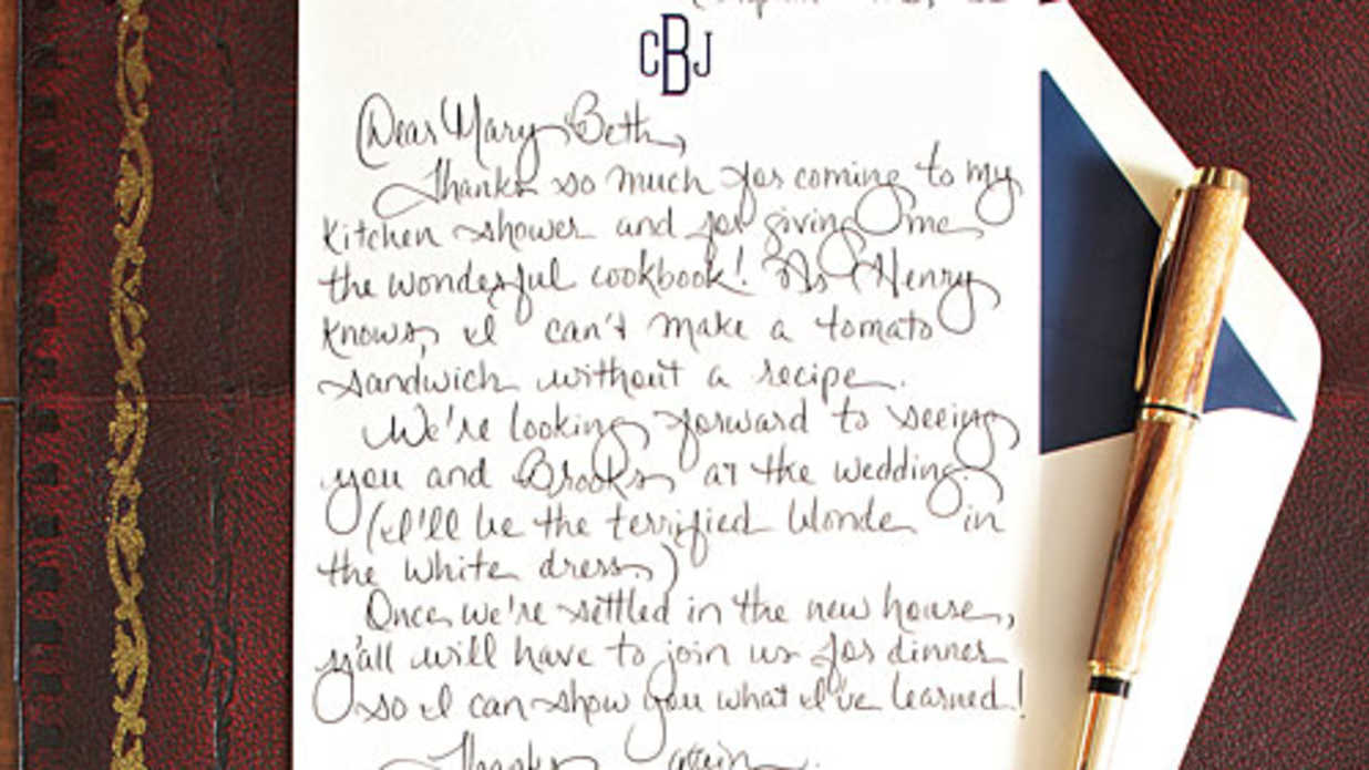 How To Write A Charming Thank You Note Southern Living