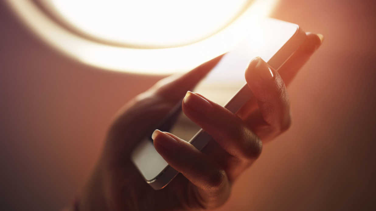 Cell Phone on Plane