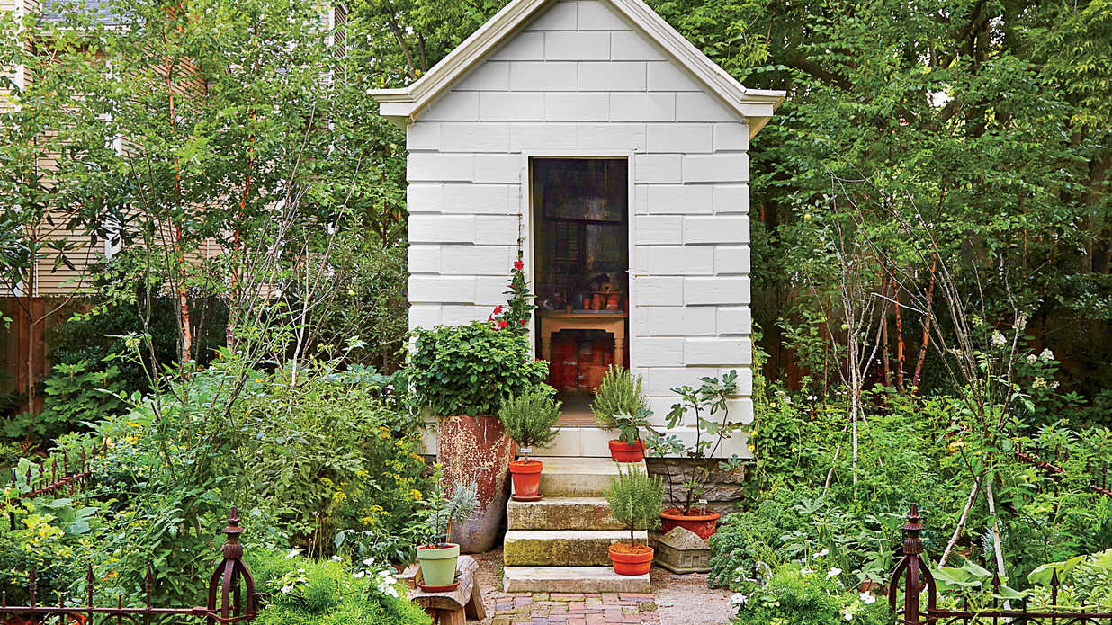 Green Landscaping with Garden Shed