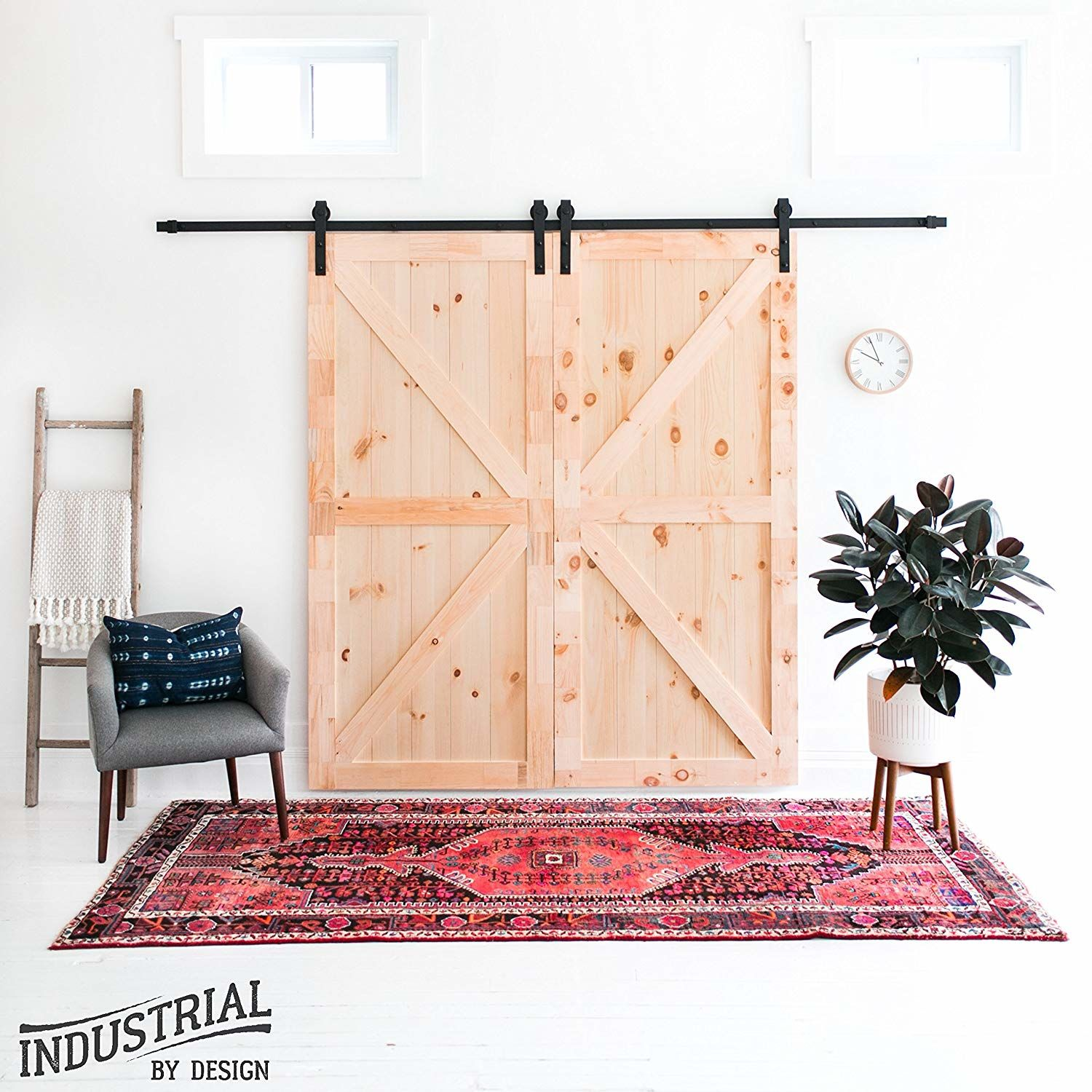 WATCH: This Sliding Barn Door Hardware Kit on Amazon Is Amazing