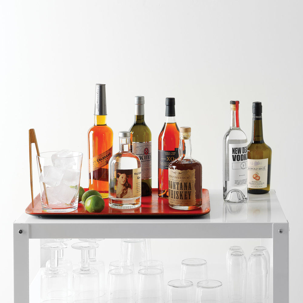How to Stock and Style a Bar Cart