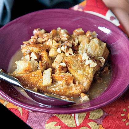 Spiced Caramel-Apple Bread Pudding Recipe