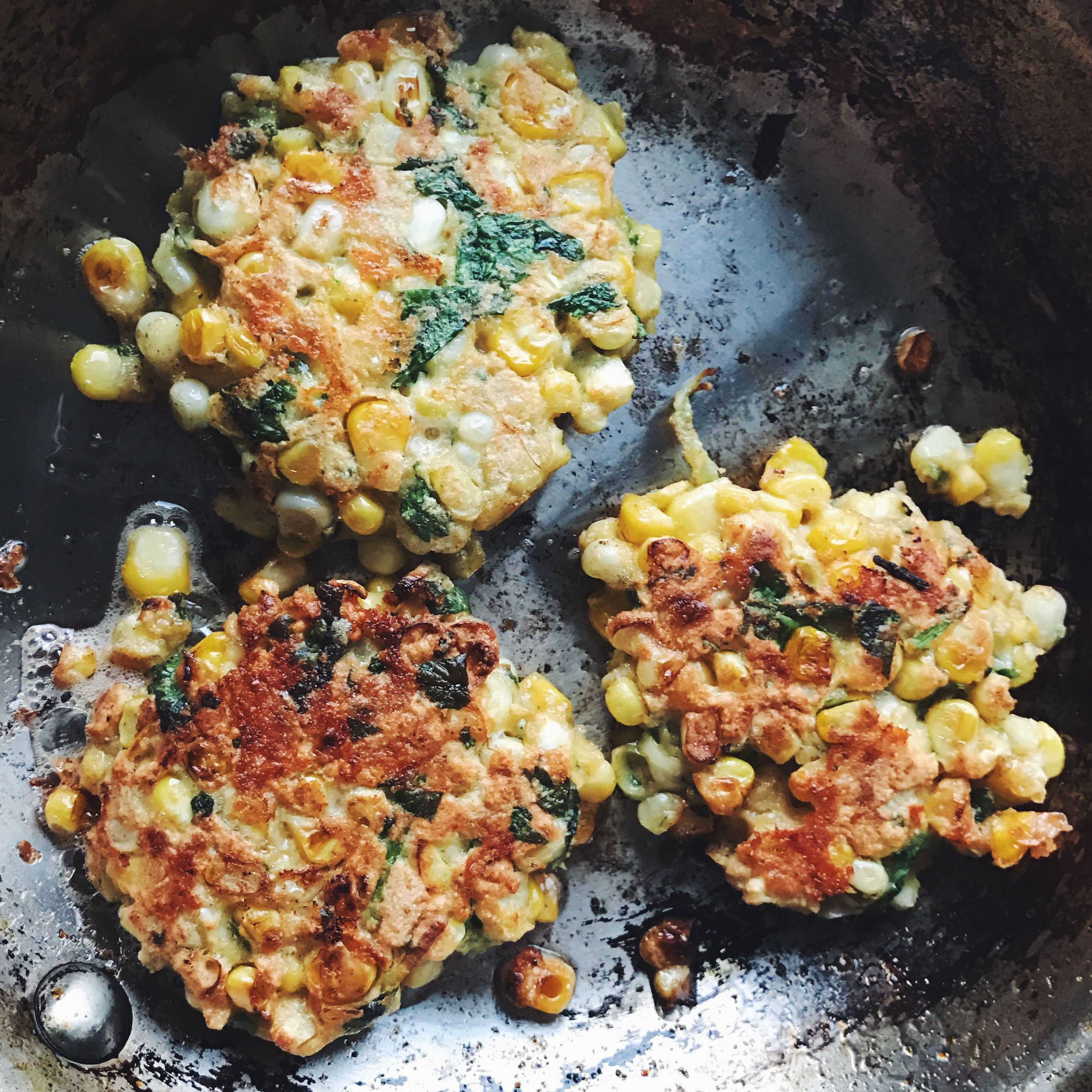 A Light and Summery Spin on Corn Fritters