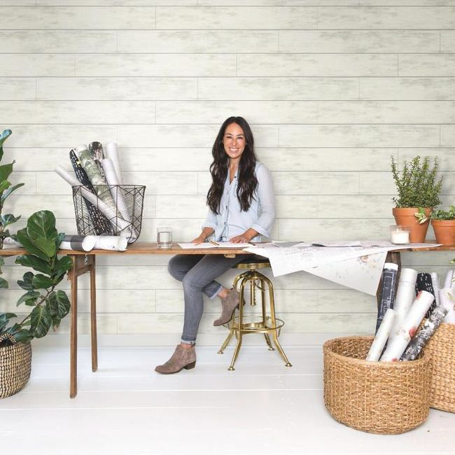 Joanna Gaines' Removable Shiplap Wallpaper—for Style Without the Fuss