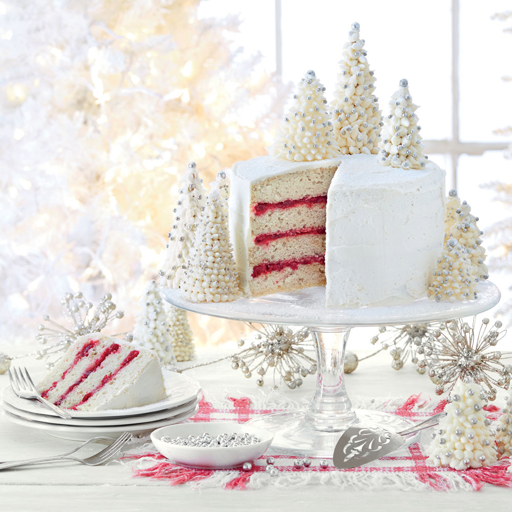 Spice Cake with Cranberry Filling Recipe