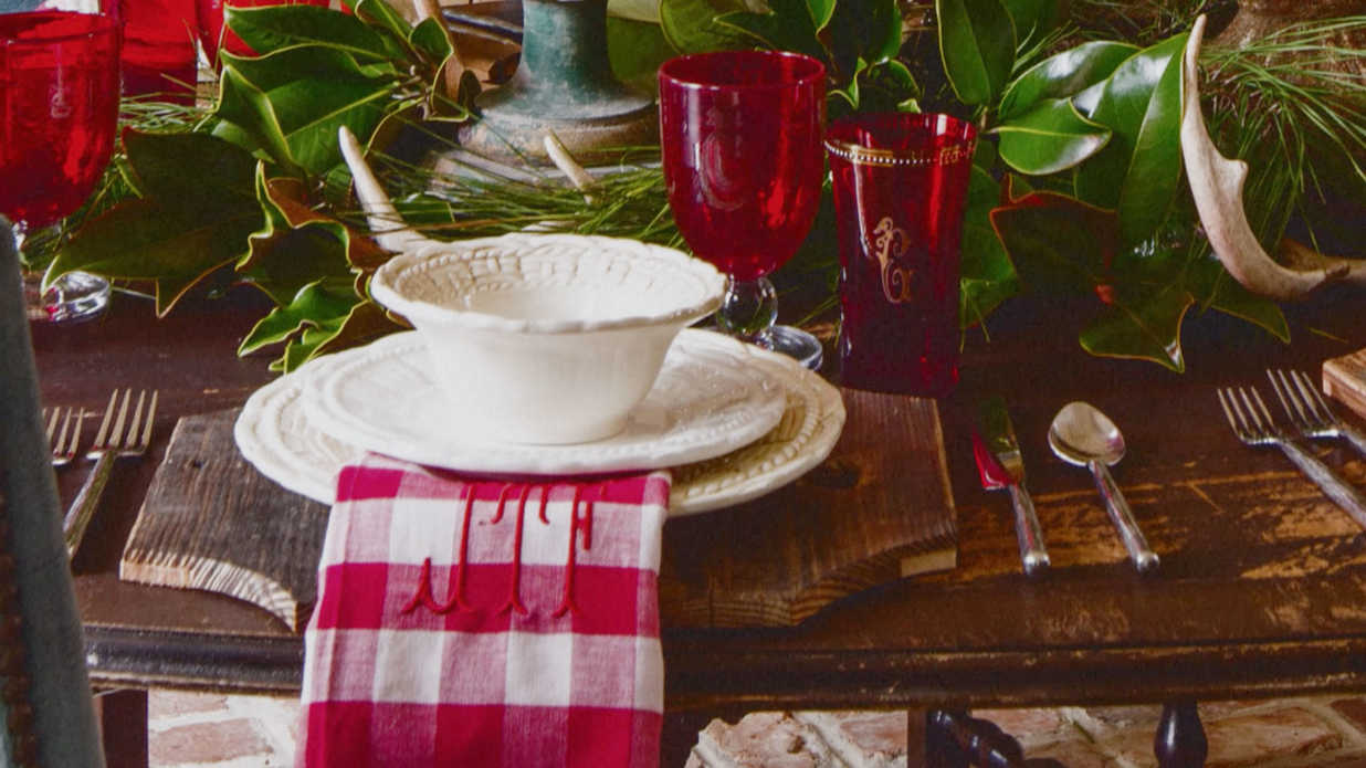 setting a christmas table with james farmer